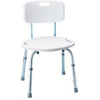 Adjustable Shower Chair with Back Image